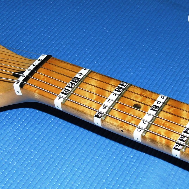FRETBOARD NOTE STICKERS for Guitar. Fret Labels Decals