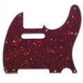 Allparts Pickguard Tele Red Tortoise 3 Ply 8 Paraf.